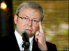 Australian Prime Minister Kevin Rudd (file image)