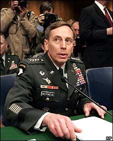 General David Petraeus testifying on 8/4/08