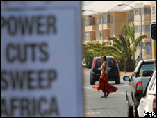 Traffic lights hit by a power cut in Cape Town in January