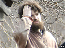 Vitaly Nedogon after emerging from the cave on 1 April 2008
