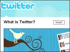 Screengrab of Twitter homepage, Twitter