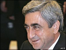 Armenian president Serzh Sarkisian (March 2008)