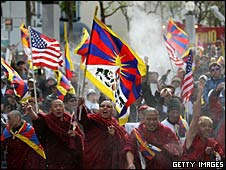 Tibetan monks in San Francisco