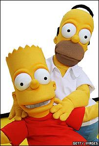 Homero y Bart, personajes de Los Simpson