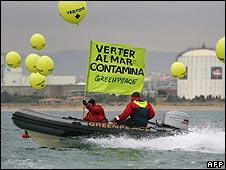 Greenpeace protest in Tarragona