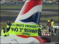 Greenpeace protest at Heathrow airport
