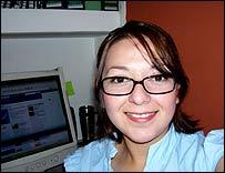 Pamela González en su oficina