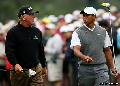 Mark O'Meara and Tiger Woods