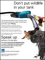 RSPB anti biofuel poster