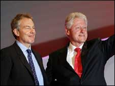 Tony Blair and Bill Clinton will not attend the conference