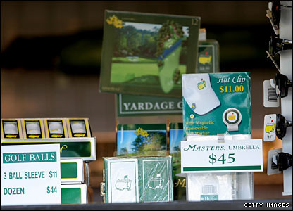 A selection of the merchandise available at Augusta