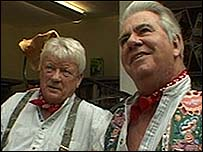 Tommy Banner and Pete Budd from the Wurzels