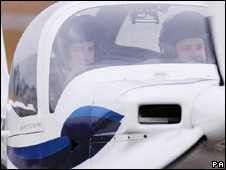 Prince William in aircraft