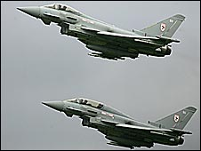Eurofighter Typhoon jets