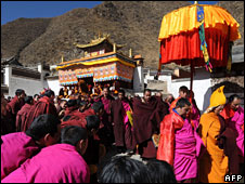 Tibetan monks (file image)