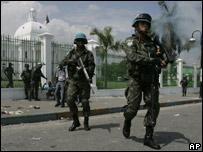 Tropas de la ONU en Haití (08/04/08)