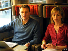 Kate and Gerry McCann on Eurostar
