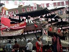 Election posters on Kathmandu street
