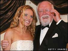 Geri Halliwell with Lord Attenborough