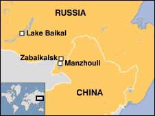 Map of Russia-China border