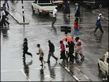 Rain in Harare this week