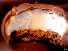 A chocolate teacake