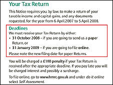 Part of the new tax form