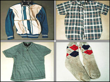 Clothes worn by the man