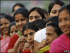 Women vote in Nepal