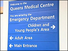 Emergency Dept sign