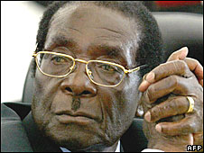 Robert Mugabe in March 2008