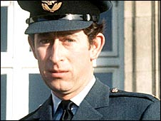 Prince Charles in his RAF Wing Commander uniform, 1977