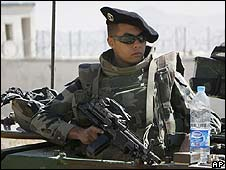 French soldier near Kabul