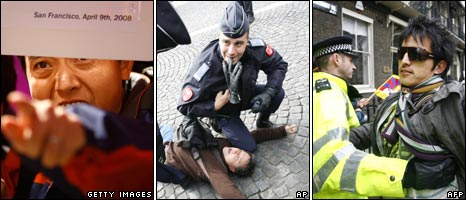 Three pictures of protest, file images