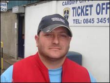 Cardiff City fan Mark Ullah
