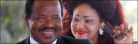 Cameroonian President Paul Biya and his wife Chantal