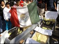 Protesta de campesinos mexicanos