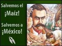 """Cartel de la campaña """"Sin maíz no hay país"""" (Foto cortesía http://www.sinmaiznohaypais.org/)"""