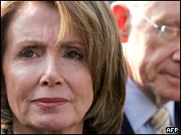 La presidenta de la Cámara de Representantes, Nancy Pelosi, y el senador Harry Reid.