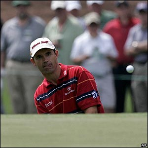Padraig Harrington, Open champion, at Augusta