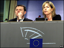 Kate and Gerry McCann in Brussels