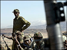 Ethiopian troops near the Eritrean border [file photo]