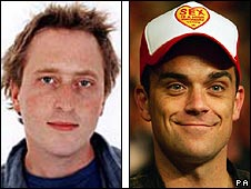 Jon Ronson and Robbie Williams