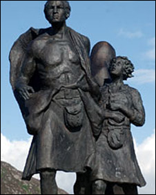 Statue at Helmsdale commissioned by Clearances Centre Ltd