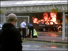 The car bomb that hit Glasgow Airport