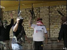 Militiamen in Sadr City, Baghdad