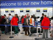 Queue at Heathrow T5