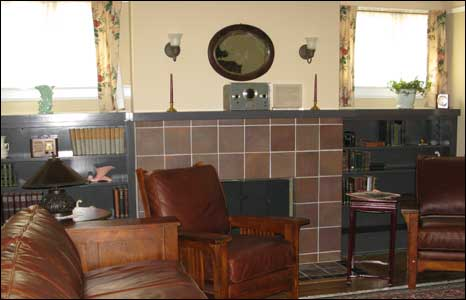 Living room at Addison Avenue, BBC