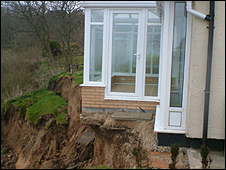 Landslip at Cayton Bay, Picture: Mike Kemp, BBC News