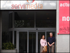 Ian and Preeti at Servi media